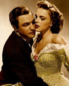Gene Kelly y Judy Garland en foto promocional para For 'Por mi chica y por mí' (Busby Berkeley, 1942)
