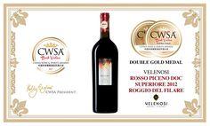 #DoubleGoldMedal per il nostro #RoggioDelFilare ai #CWSA in Cina. #velenosivini #premi #etichette #vino