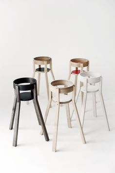 Solid birch wood highchairs from Finland.