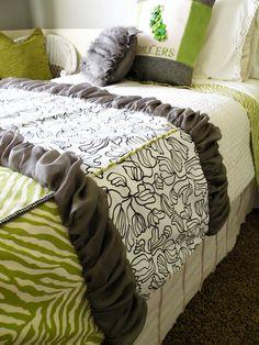 Sewing scraps bedding tutorial