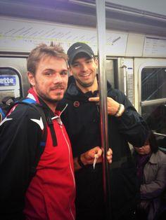 Stan Wawrinka and Grigor Dimitrov. Metro Paris - Roland Garros