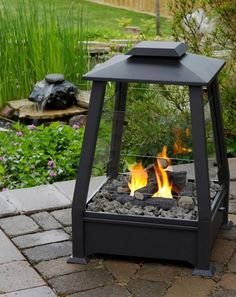 Real Flame - Sierra Outdoor Fireplace - Log fire restrictions got you down? You need this gorgeous modern fire pit. Keep yourself toasty on cool fall nights and use your outdoor space for as much of the year as possible. Porches, Modern Fire Pit, Outdoor Heaters, O Gas, Fire Pit Backyard, Outdoor Living, Outdoor Decor, Rustic Outdoor, Outdoor Gardens