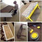 DIY Coffee Table Turned Into An Ottoman | Mom & Wife