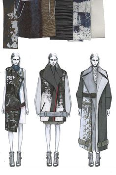 Fashion Sketchbook - fashion illustrations & textiles for graduate fashion collection; fashion portfolio // Amy Dee
