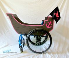 Girl Pirate Ship Costume Kit for Wheelchair by byCassieMcLelland