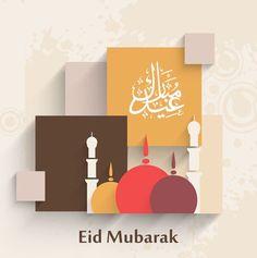 Trendy colorful background with colorful mosque and Arabic Islamic calligraphy… Eid Mubarik, Eid Al Adha, Eid Mubarak Greetings, Happy Eid Mubarak, Eid Ul Adha Messages, Ramadan Karim, Fest Des Fastenbrechens, Eid Pics, Eid Mubarak Card