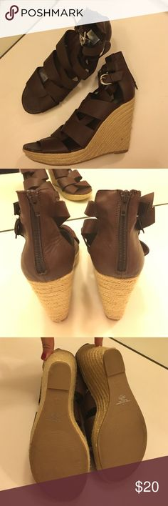 Brown strappy wedges Worn once! Dolce Vita Shoes Wedges