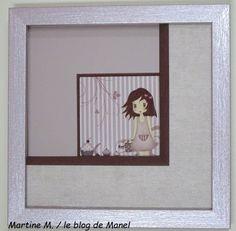 Martine M. / élève de Manel / trio de biseaux France, Blog, Album, Decor, Picture Frame, Fantasy, Frames, Decoration, Blogging