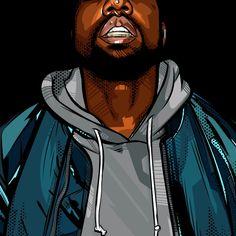 Kanye West | Art by Samona Lena info@scaredofmonsters.com http://scaredofmonsters.com http://instagram.com/ho3sz http://www.scaredofmonsters.tumblr.com/ https://society6.com/scaredofmonsters http://nabaroo.com/Samona/nabs