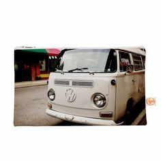 "Angie Turner ""VW Bus"" White Vintage Everything Bag"