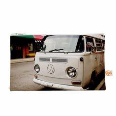 "Angie Turner ""VW Bus"" White Vintage Everything Bag"