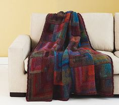 Colorful Mitered Afghan - Free Crochet Pattern With Website Registration - (lionbrand)
