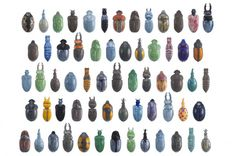 """Commissioned by design publisher Thomas Eyck, German artists Beate Reinheimer and Ulrike Rehm created """"schwarm,"""" a collection of limited edition glazed porcelain vases shaped like all sorts of funky bugs and beetles."""