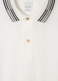74b6badbfbe Men s Slim-Fit White Cotton-Piqué Polo Shirt With Stripe Tipping Paul Smith