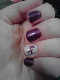 Purple ribbon for lupus....