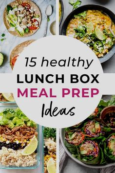 The BEST healthy meal prep ideas for lunch -- whether you're looking to save money by packing your own lunch, or need new ideas to send to school with your kids, these recipes are packed with protein and veggies to fuel you all day long! Good Healthy Recipes, Healthy Meal Prep, Healthy Eating, Yummy Recipes, Lunch Meal Prep, Meal Prep Bowls, Lunch Box Recipes, Lunch Ideas, Dinner Recipes