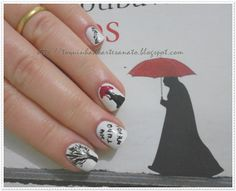 Nail art inspired by the Portuguese translation of The Book Thief. Book Nail Art, The Book Thief, Beauty Hacks, Beauty Tips, Mani Pedi, Pretty Nails, Book Worms, My Nails, Body Art