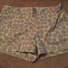 J. Crew Shorts Ivory and gray. Very versatile and can be worn with almost any color top. J. Crew Shorts