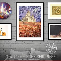 Artist Life, Helsinki, Finland, Cathedral, Gallery Wall, Dots, Gift Ideas, Free Shipping, Art Prints