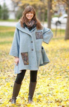 pinterest refashioning clothing | Sweater Refashion / blue fish clothing