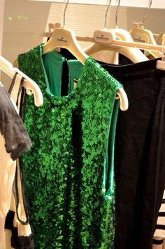 Emerald green sequins -- nothing better. Especially since Emerald Green is Pantone's 2013 Color of the Year!!
