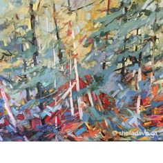 Photo Tree, Contemporary Landscape, Art Styles, Ink Painting, Tree Art, Expressionism, Gouache, Landscape Paintings, Fashion Art