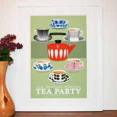 Mid Century Modern Tea Party!