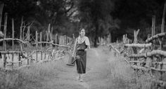 Photograph Thai woman in farmer suit on the way by Sasin Tipchai on 500px