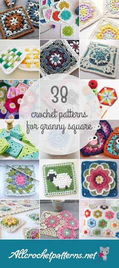 Allcrochetpatterns.net has the largest collection of free and premium Granny Square crochet patterns. Click now and discover wonderful crochet patterns! Page 2 of results.
