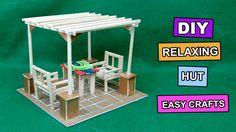 Chopsticks Crafts| Miniature Relaxing Hut