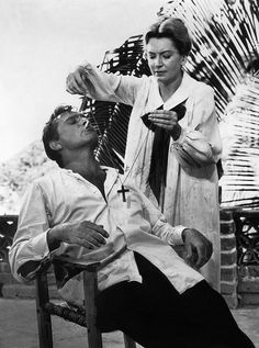 The Night of the Iguana, film by John Huston, Mexico, 1964, based on a short novel/ stage play by Tennessee Williams. With: Richard Burton & Ava Gardner & Deborah Kerr.