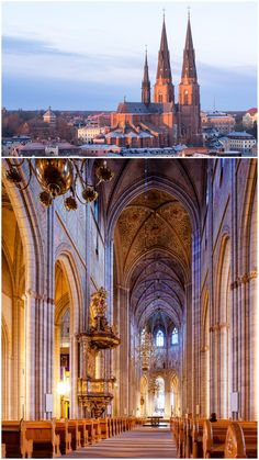 Uppsala cathedral (Uppsala Sweden) - Religious Architecture and Houses Of Worship - Historical Buildings - Amazing Beautiful Spiritual Travel Destinations Religious Architecture, Gothic Architecture, Rose Window, Uppsala, Cathedral Church, Mosques, Choir, Bricks, Temples