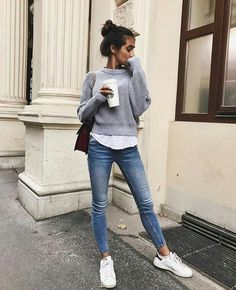 37 stylish sneakers outfits ideas for this winter 31