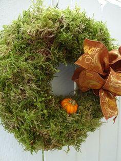 Moss Wreath, Straw Wreath, Twig Wreath, Green Wreath, Burlap Wreath, Wreath Fall, Indoor Wreath, Outdoor Wreaths, Outdoor Decor