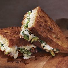 Roasted Asparagus and Fresh Herb Grilled Cheese - FineCooking