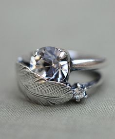 Feather ring. Interesting.. Not sure if I love it or if I am just ok with it...