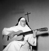 """the singing nun- """"Dominique, nique, nique, S'en allait tout simplement, Routier pauvre et chantant..."""""""