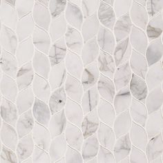 By creating the contemporary Calacatta Blanco Pattern backsplash tile and floor tile. Kitchen Dinning Room, Kitchen Island Decor, Ceramic Mosaic Tile, Stone Mosaic Tile, Mirror Backsplash Kitchen, Art Deco Tiles, Tiles Texture, Tile Patterns, Master Bath