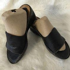 Born black sandals size 7 Excellent condition just has some wear . Born Shoes Wedges