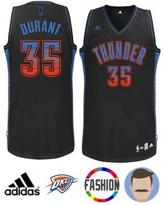 93f4b107a14 Men s Kevin Durant  35 Black Swingman Fashion Jersey C. Thunder TeamOklahoma  City ThunderAdidas NbaAdidas ...