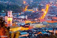 Night view from Castle Hill, Lviv, Ukraine #lemberg... #lemberg: Night view from Castle Hill, Lviv, Ukraine #lemberg… #lemberg
