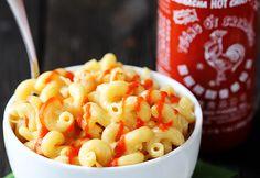 Mac and Cheese with Sriracha sauce.