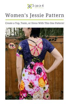 Our women's Jessie pattern has so many options! Will you sew a top, tunic or dress? With a beautiful fit and delightfully fun back options, you'll definitely want one in every variation and color! Pdf Sewing Patterns, Clothing Patterns, Dress Patterns, Modern Outfits, Stylish Dresses, Fall Sewing, Cowl Neck Dress, Tunic Pattern, Women's Tops