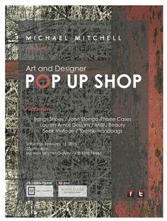 Art and Designer POP UP SHOP Poster   Designed by Tyler Hill