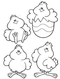 chicks colouring page