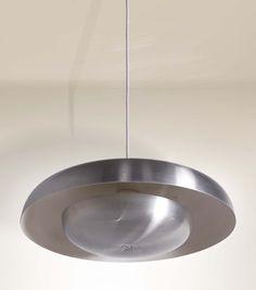 Pirro Cuniberti; Steel and Brushed Aluminum Ceiling Light for Sierra, 1972.