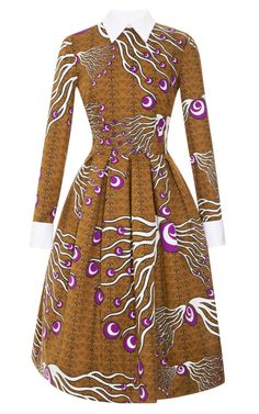 Dericia Printed Full Skirt Dress by Stella Jean for Preorder on Moda Operandi African Print Fashion, Africa Fashion, Fashion Prints, Fashion Design, Ankara Fashion, African Attire, African Wear, African Women, African Style