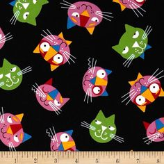 Robert Kaufman  Whiskers & Tails Cats by ThisOldFabricStore