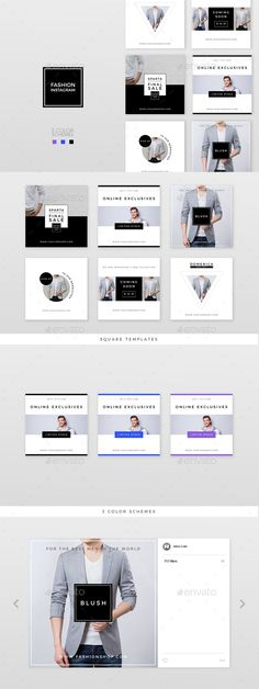 Fashion Instagram – 3 Color Schemes — Photoshop PSD #marketing #fashion • Download ➝ https://graphicriver.net/item/fashion-instagram-3-color-schemes/19288583?ref=pxcr