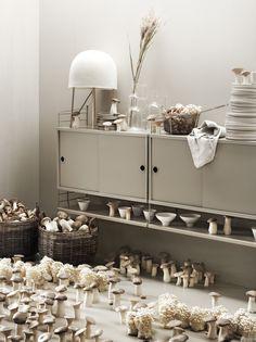 Mushroom season🍄 Scandinavian Shelves, Scandinavian Furniture, Modular Shelving, Shelving Systems, Built In Shelves, Metal Shelves, Storage Shelves, Minimalist Design, Modern Design